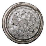 Oud zilveren muntstuk Royalty-vrije Stock Fotografie
