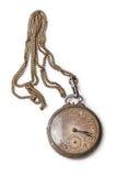 Oud zilveren zakhorloge Royalty-vrije Stock Foto