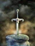 Oud zwaard royalty-vrije illustratie
