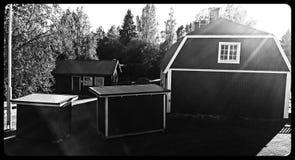 Oud Zweeds huis Royalty-vrije Stock Fotografie
