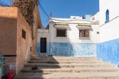 Oudaia Kasbah, Rabat. In the alleys of the Oudaia Kasbah, Rabat, Morocco Stock Photos