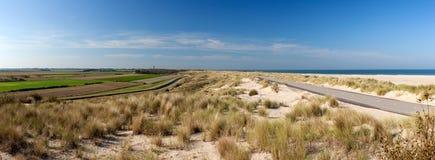 Ouddorp Beach Panorama Royalty Free Stock Photo