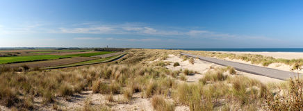 Ouddorp Beach Panorama Royalty Free Stock Photo