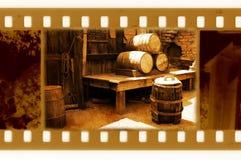 Oude 35mm frame foto met de uitstekende vaten van de V.S. Royalty-vrije Stock Foto's