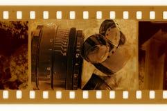 Oude 35mm frame foto met filmband royalty-vrije illustratie