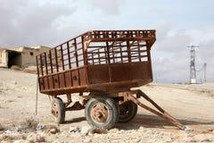 Oude aanhangwagen Royalty-vrije Stock Foto's
