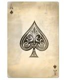 Oude aas van spades stock illustratie