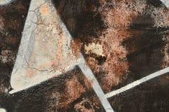 Oude abstracte graffiti stock illustratie