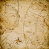 Oude abstracte piratenkaart Stock Fotografie