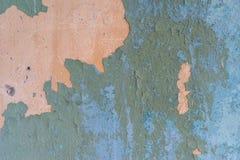 Oude achtergrond met bladmetaal en geschilderd Stock Foto