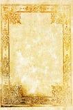 Oude achtergrond met bloemengrens Royalty-vrije Stock Afbeelding