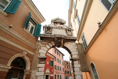 Oude Adriatische stad 13 royalty-vrije stock afbeeldingen