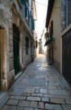 Oude Adriatische stad 28 stock foto