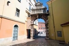 Oude Adriatische stad 32 stock foto
