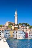 Oude Adriatische stad Rovinj Royalty-vrije Stock Foto's