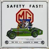 Oude advertentie - Mg royalty-vrije stock afbeeldingen