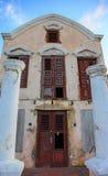 Oude afbrokkelende villa op Curasao Stock Fotografie
