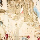 Oude affiches grunge texturen Stock Afbeeldingen