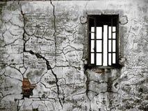 Oude afgebroken muur Royalty-vrije Stock Afbeeldingen