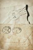 Oude afgestempelde enveloppen Royalty-vrije Stock Afbeelding