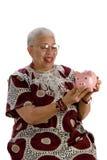 Oude Afrikaanse Amerikaanse dame Royalty-vrije Stock Afbeeldingen