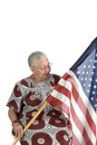 Oude Afrikaanse Amerikaanse dame Royalty-vrije Stock Foto