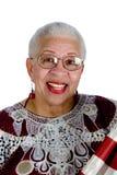 Oude Afrikaanse Amerikaanse dame Royalty-vrije Stock Foto's