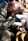 Oude Afrikaanse mens Stock Afbeelding