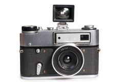 Oude afstandsmetercamera Stock Afbeeldingen