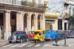 Oude Amerikaanse auto's in Havana Royalty-vrije Stock Foto