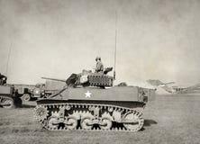 Oude Amerikaanse tank Stock Foto's