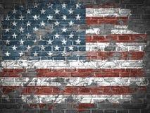 Oude Amerikaanse Vlag Royalty-vrije Stock Afbeelding