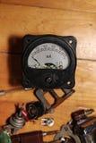 Oude ampèremeter Royalty-vrije Stock Foto's