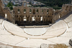 Oude amphiteatr Odeon Gerodes Atticus Acropol Royalty-vrije Stock Afbeelding