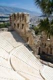 Oude amphiteatr Odeon Gerodes Atticus Acropol Stock Afbeelding