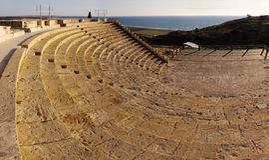 Oude amphitheatre Stock Foto's
