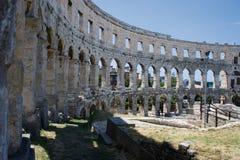 Oude amphitheatre in Pula Royalty-vrije Stock Fotografie
