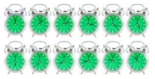 Oude analoge klok met 24 uren Royalty-vrije Stock Afbeeldingen