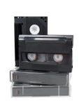 Oude analoge videocassettes hi8 v8 Stock Afbeelding