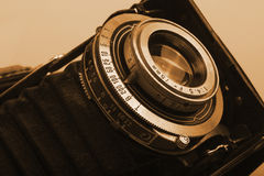 Oude antieke camera stock foto