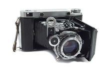 Oude antieke camera royalty-vrije stock afbeelding
