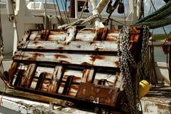 Oude antieke houten boot Stock Foto's