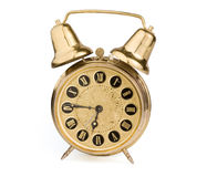 Oude antieke klok Royalty-vrije Stock Foto's