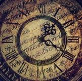 Oude antieke klok Stock Foto's