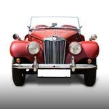 Oude antieke rode auto Stock Afbeelding
