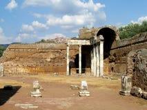 Oude antieke ruïnes van Villa Adriana, Tivoli Rome royalty-vrije stock foto