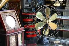 Oude antieke ventilator Royalty-vrije Stock Fotografie