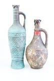 Oude antieke wijnflessen Royalty-vrije Stock Foto