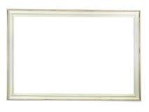 Oude antieke witte houten omlijsting stock illustratie