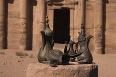 Oude Arabische kruiken Stock Foto's